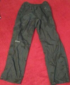 Marmot PreCip Full Side Zip Pants S/P Short Black Nylon Outdoors Rain Womens