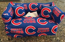 Chicago Cubs Sofa Couch Tissue Box Cover With Little Pillows