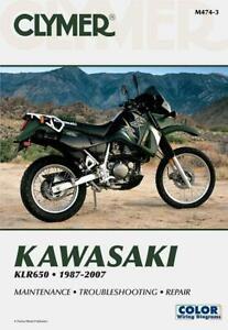 CLYMER Repair Manual for Kawasaki KLR650 1987-2007