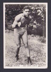 1935 Joe Louis Pattrieouex Sporting Events & Stars #56 HOF Rookie Boxing Card RC