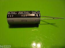 SANYO/RUBYCON 4031993904 150UF, M, 200V, ELECTROLYTIC CAPACTIOR, S0128, YXF, NEW