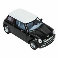 RI Novelty - Pull Back Die-Cast Metal Vehicle - MINI COOPER (Black)(5 inch) -New