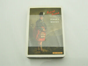 VINTAGE UNUSED DEWAR'S WHISKY SUPERB SCOTCH PLAYING CARDS IN WHITE LABEL BOX