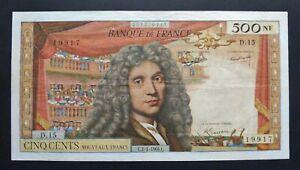 """500 Nouveaux Francs  """"Molière"""" - 2 janvier 1964"""