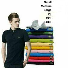 2021 Men's Vintage Lacost L1212 T Shirt Short Sleeve Polo Slim Fit T-Shirt S-3XL