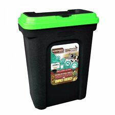 Pet food storage container chat chien aliments secs bird seed box bin flip couvercle scoop