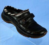 Merrell J66236 Encore Scoop Black Leather Knit Collar Mocs Clogs Women's Size 8