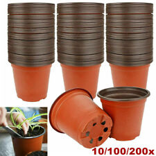 More details for 9cm plant pots terracotta plastic tall deep full size flower pots 3.5