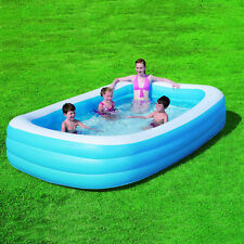 "NEW DELUXE INFLATABLE FAMILY PADDING POOLS SUMMER SWIMMING POOL 120"" X 72"" X 22"""
