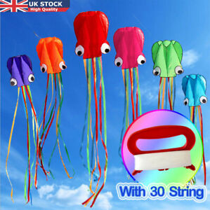 30M String Park Octopus Kite Outdoor Beach Holiday Weekends Kids Game Fun Gift