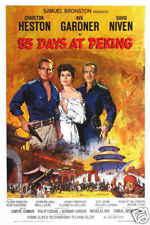 55 days at Peking Charlton Heston Movie poster print