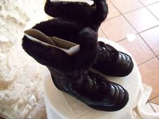 Winter Boots Nuptse Fur IV Black Nylon Size 5.5 Medium Super Cute Comfy and Warm
