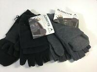 Men's Winter Convertible Gloves Fingerless Flip Mittens Glomitts Artic-X NWT OS