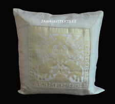 """Indian Silk Cushion Cover Pillow 16X16"""" Inches Home Decorative Vintage Handmade"""