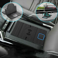 QI Wireless Car Phone Charger Charging Pad Mat for iPhone HUAWEI Universal black