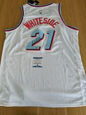 HASSAN WHITESIDE - Miami Heat Vice Signed jersey With COA