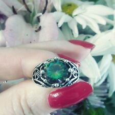 1.76ct Lab Created Mystic Rainbow Topaz Ring in Vintage Style Setting size 5.5