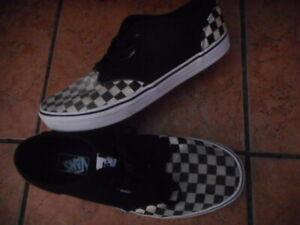VANS black & white checker check board TRAINERS uk 10 bmx skateboard sk8er