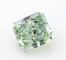 Green Diamond 1.11ct Natural Loose Fancy Light Green Color Radiant GIA SI2