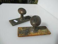 Vintage Bronze Door Knobs Handles Pulls Architectural Antique Old Reclaim Plates
