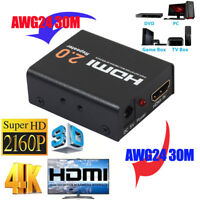 HDMI 2.0 Repeater Extender Signal Amplifier Booster Adapter 4K/2K HDCP 2.2 EDIDS