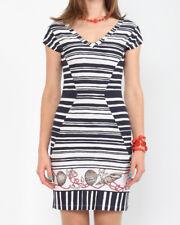 Sommer Jersey Kleid Viskosa Gestreift schwarz-weiß Gr.38/XS von LISSA