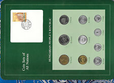 Coin Sets of All Nations Hungary all 1983 but 5 Forint 1984 Unc 20,10,2,1 Forint
