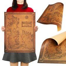 Retro Game of Thrones Westeros Map Quality Decor Wall Poster 42cm x 36cm