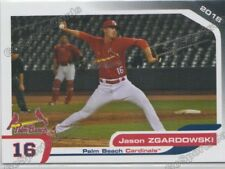 2018 Palm Beach Cardinals Jason Zgardowski RC Rookie St Louis