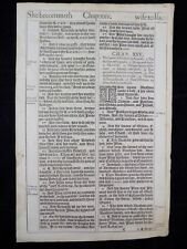 1611 KING JAMES BIBLE LEAF PAGE *BOOK OF GENESIS 24:51-26:5 *ESAUS BIRTHRIGHT  *