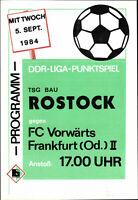 DDR-Liga 84/85 TSG Bau Rostock - FC Vorwärts Frankfurt (Oder) II, 05.09.1984