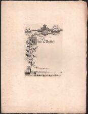 Menu. Division Volante d'Instruction. Visite Roi et Reine du Portugal. 1893