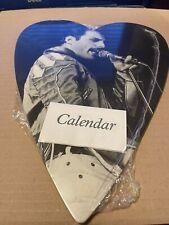 More details for queen freddie mercury novelty heart shaped calendar rare