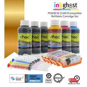 Refillable ink cartridge for Canon CLI-651 PGI-650 IP8760 MG7560 MG7160 MG6360