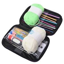 Gauge Crochet Hooks Set Knitting Knit Needle Yarn Organiser Case Kit Craft Tool