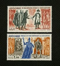 More details for andorra (french) - 1964 - andorran history, napoleon etc (2) - mnh - sg f190/1