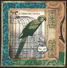 Vignette de Tissu Patchwork Perruche Souris Cotton Fabric Parakeet