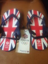 BNWT BOYS GIRLS UNISEX TEAM GB FLIP FLOPS SANDAL UK 11-12GREAT BRITAIN FREE POST