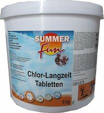 Summer Fun Chlor Langzeit Tabletten 5kg Dauerdesinfektion Chlortabletten Pool