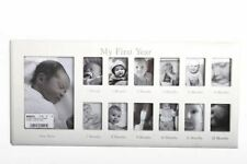 Shabby Chic White Wooden 12 Month Baby My 1st Year Nursery Photo Frame Gift