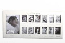 Shabby Chic De Madera Blanca 12 meses bebé mi 1st año Vivero foto marco regalo