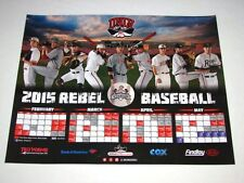 UNLV Hustlin' Rebels Baseball 2015 Schedule Team Poster 20x16