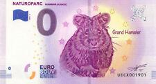 68 HUNAWIHR Naturoparc 2, Grand hamster, 2019, Billet 0 € Souvenir