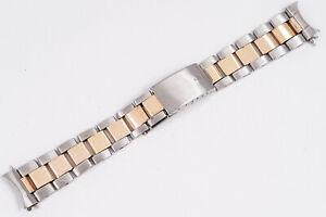 Vintage Rolex 1971 Two Tone Oyster Bracelet 7836 w/ 258 Two Tone GMT Datejust