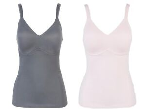 Rhonda Shear 2-pack Everyday Molded Cup Camisole (689665), Charcoal/Pink, XS