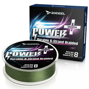 Rodeel Fishing Line 8 Strands Braided PE Lines Abrasion Resistant Green Colour