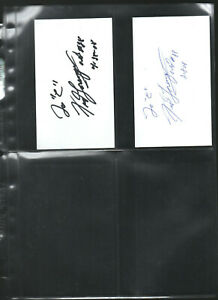 (2) FRED LORENZEN AUTOGRAPHED/AUTO/SIGNED/HAND SIGNED INDEX CARD 3X5 C