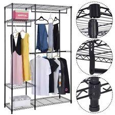 4-Tier Home Closet Storage Organizer Garment Rack Clothes Hanger Shelf Iron US