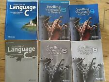 abeka 6th grade language C and spelling, vocabulary, and poetry 6
