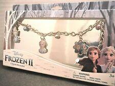Disney Frozen II Chicas pulsera con dijes 4 encantos Anna Elsa Olaf Nuevo En Caja